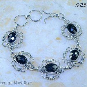 Genuine Black Onyx 925 Handcrafted Bracelet